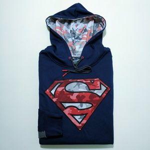 Superman Camo Men's Pullover Hoodie Medium